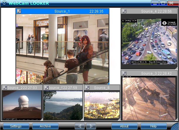 WebCam Looker preview window