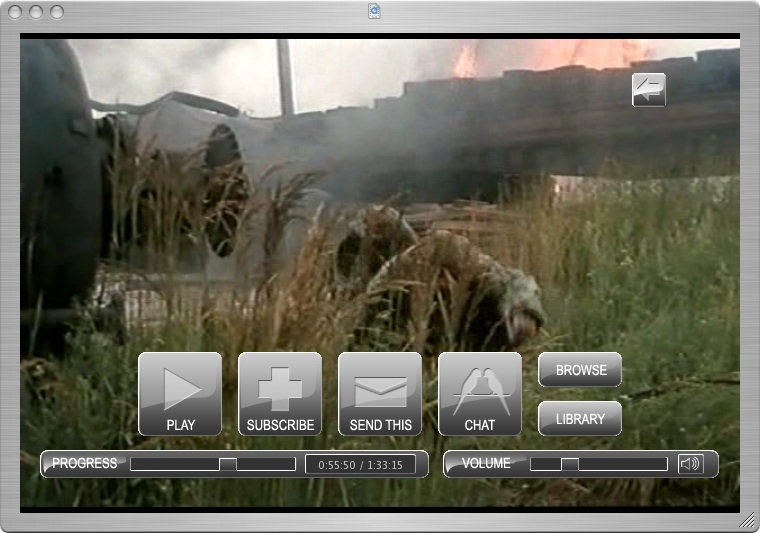 Custom video player for Mac OS.