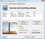 WebCam Looker sources settings dialog