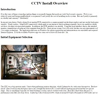 CCTV Install Overview