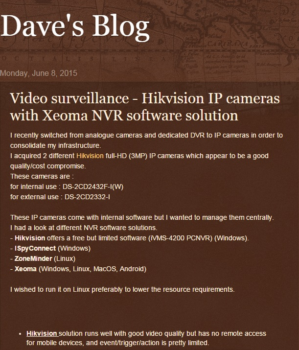 Hikvision IP cameras with Xeoma NVR software solution
