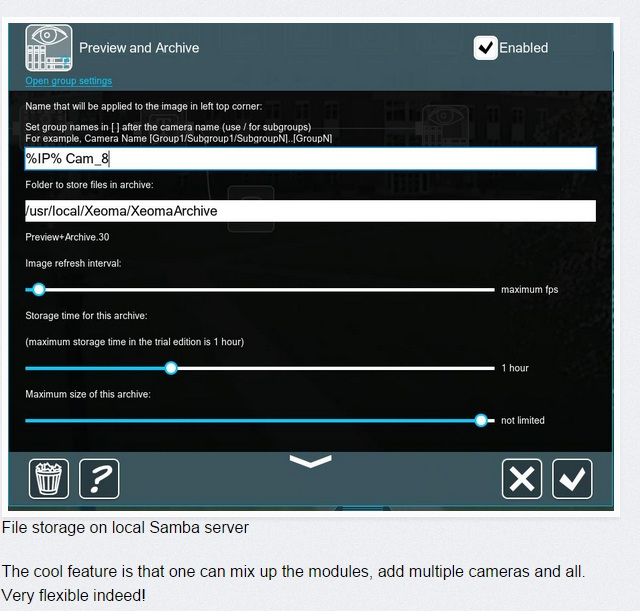 Configure Xeoma and use it for home surveillance