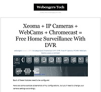 Free home surveillance with DVR