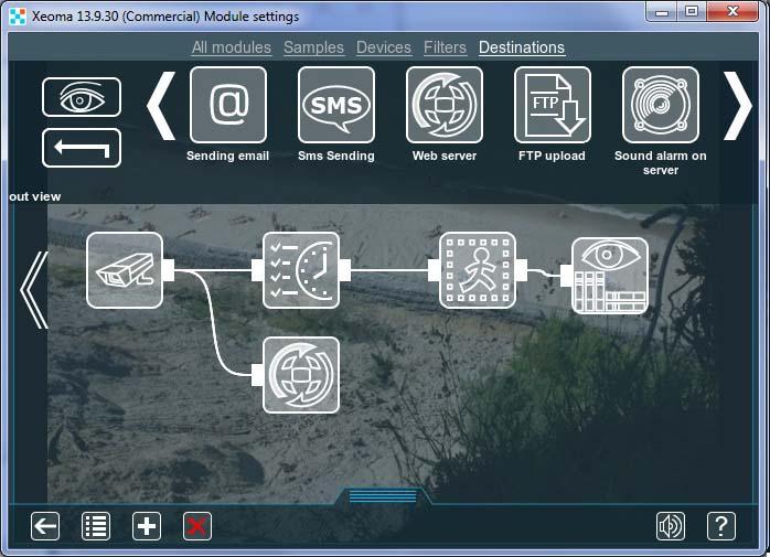 Кастомизация веб сервера программы для IP камер Xeoma: подключите ко всем камерам, которые Вы хотите видеть в веб сервере, модуль
