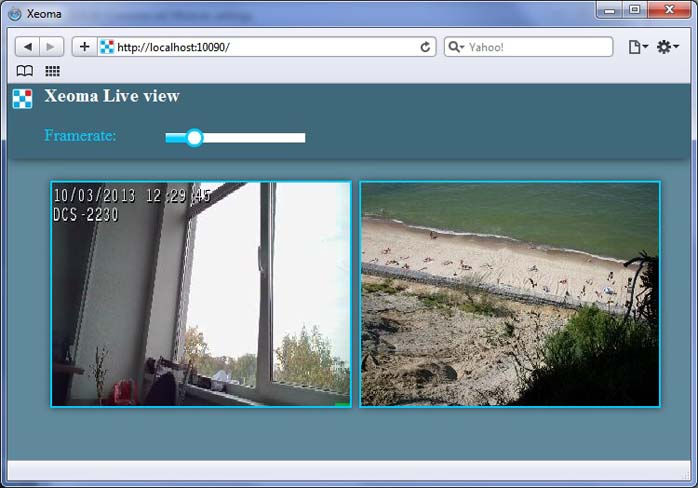 Web server customization in IP camera software Xeoma: Visit the pages in a browser that you'd like to customize