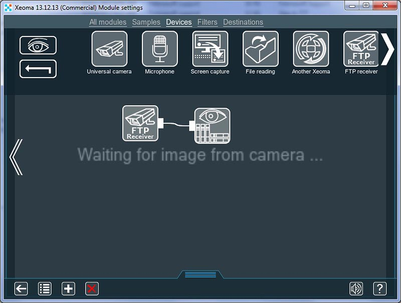 Add FTP receiver module to enable FTP streaming from remote camera to cloud video surveillance server