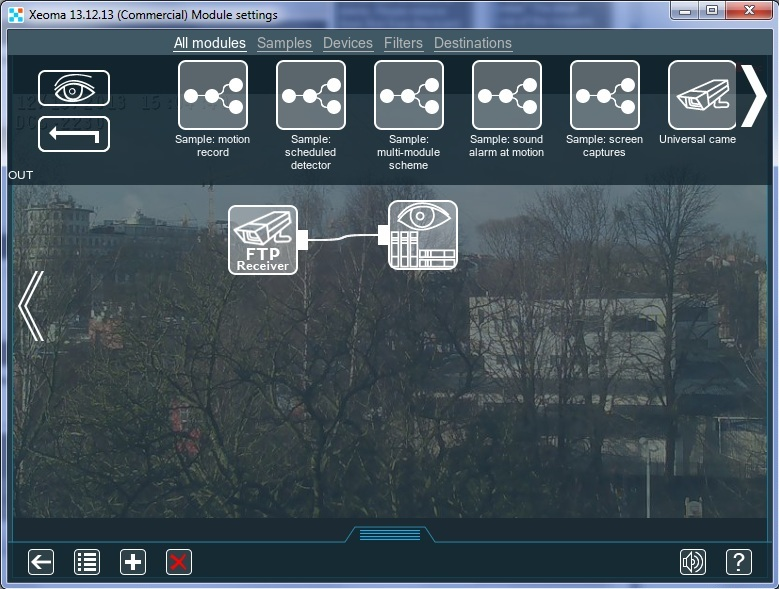 If all is correctly set up, FTP streaming will start and FTP Receiver will get image from the remote camera