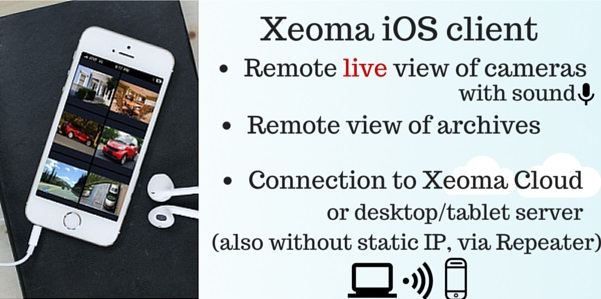 New Xeoma app for remote video surveillance from iPhone or iPad allows view archived and live cameras