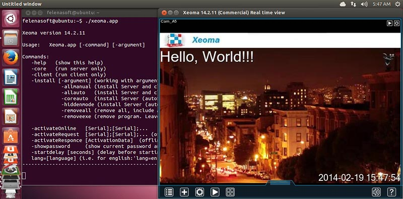 Manual for Xeoma video surveillance software for Linux via console: Run simply by accessing Xeoma app