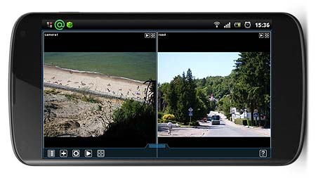 Xeoma free Android app cctv viewer for mobile video surveillance on Nexus device