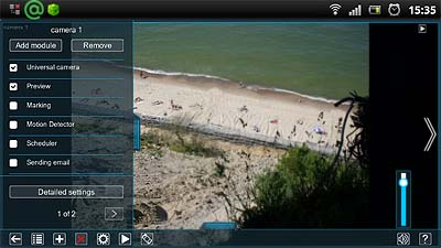 Mobile video surveillance with Xeoma free Android app