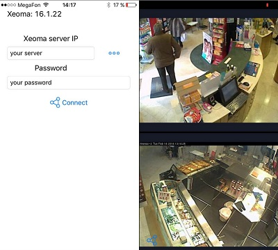 iPhone video surveillance is easy with our special Xeoma application