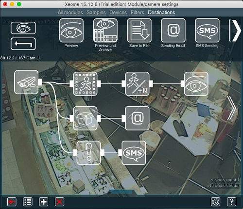 Enjoy Xeoma video surveillance on Mac with all modern detectors
