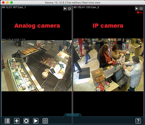 Organize your video surveillance on Mac with IP or analog camera