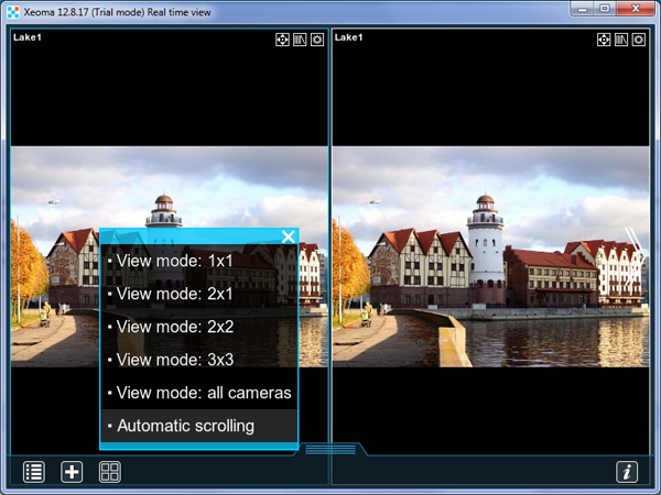 Automatic scrolling in Xeoma free cam software