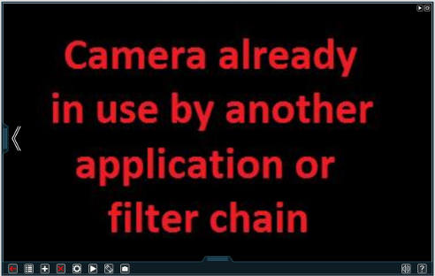 If you see this message in Xeoma free webcam software, make sure that the camera is not used in other applications.