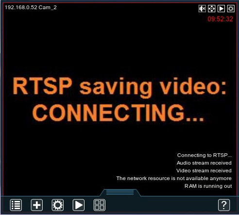Reconnection to the RTSP stream and Problem Detector's preview notifications in Xeoma free webcam software