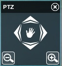 PTZ control in Xeoma webcam app