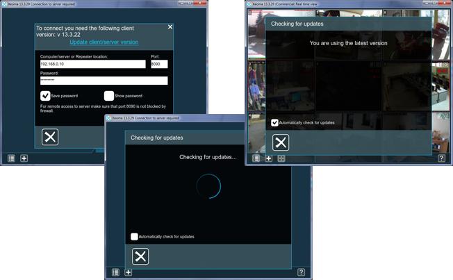 Программа для веб камер Xeoma предлагает уведомления о доступных обновлениях и лёгкое обновление в один клик
