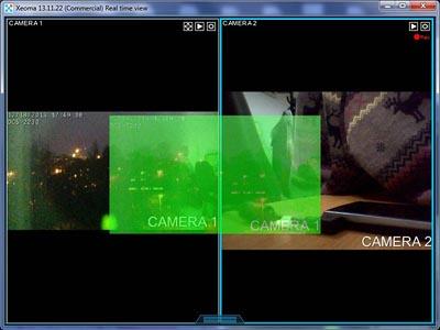 Изменение порядка камер путём перетягивания одной на место другой