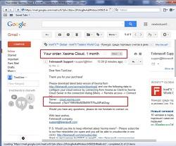 Подключение к Облачному видеонаблюдению через Интернет Xeoma Cloud начинается с покупки подписки и получения данных для подключения на email
