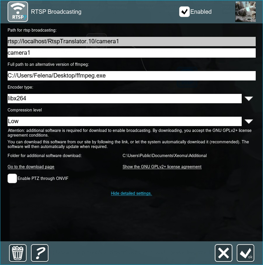 RTSP Broadcasting – Felenasoft