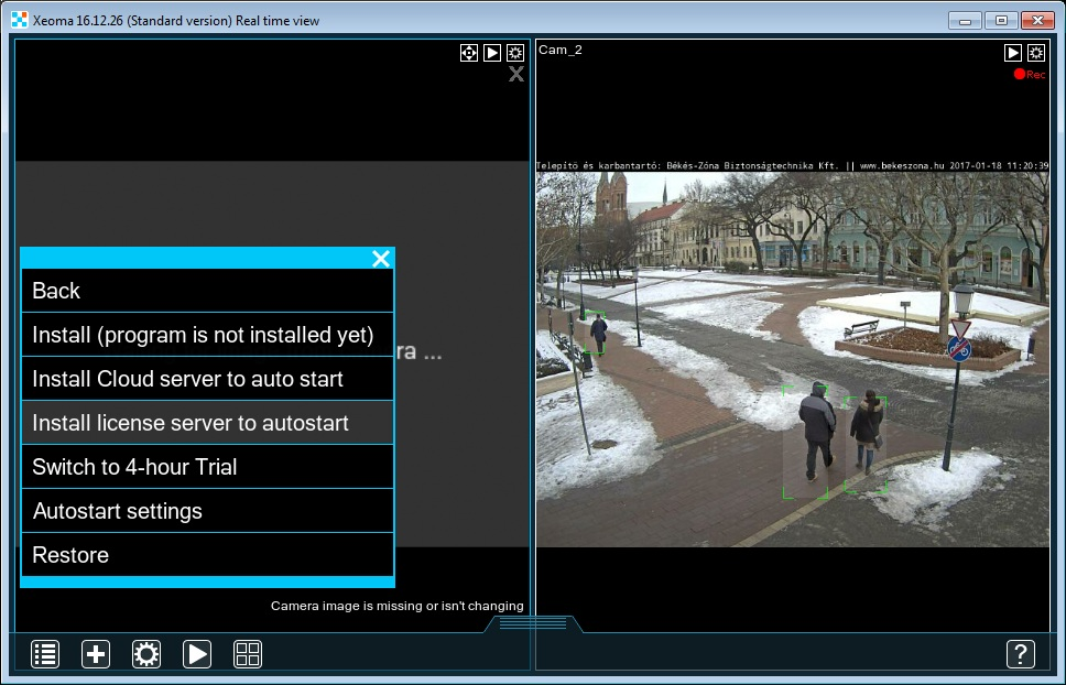 Activate Xeoma video surveillance for IP cameras on virtual machines with license server