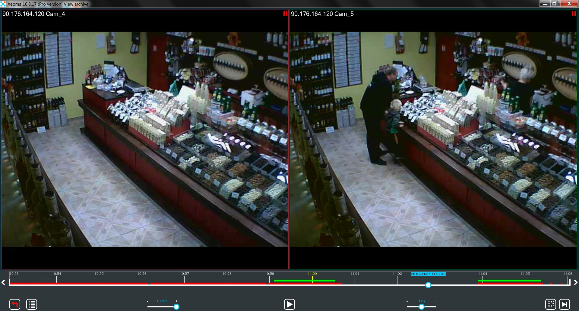 Working with the archive for house cameras