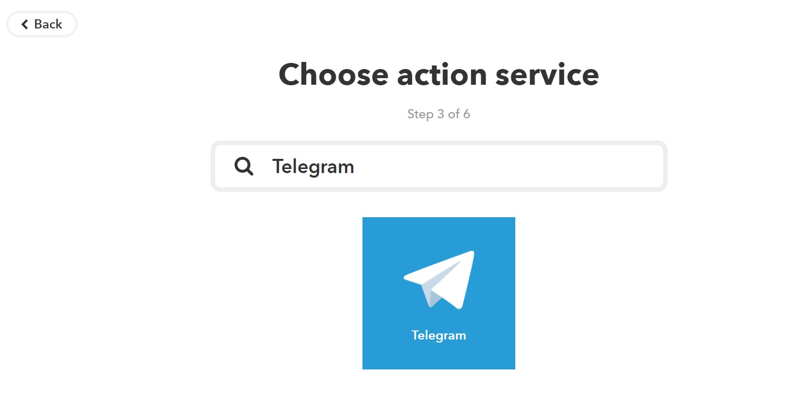 Choose sending alerts to Telegram