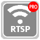 You can transmit data over the network using rtsp broadcasting