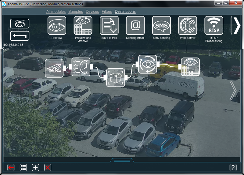 Auto tracking for sport games (football, basketball) in Xeoma video surveillance software