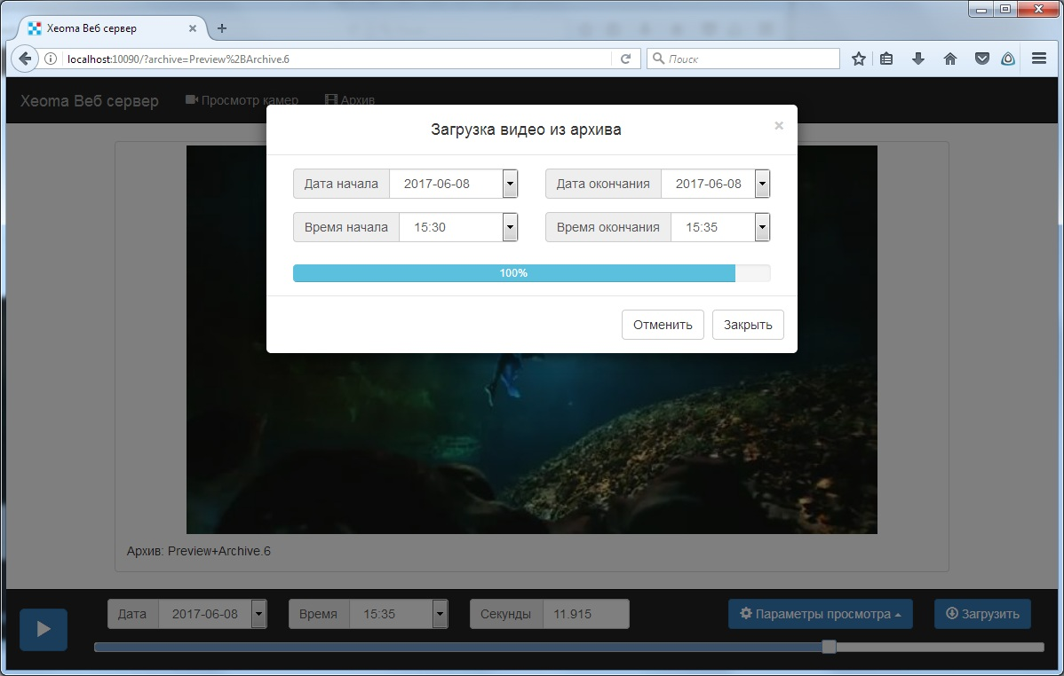 web_interface_xeoma_cms_archive_view_export