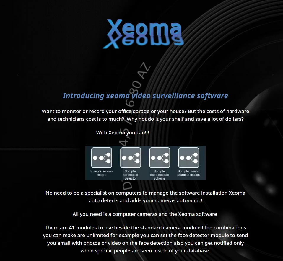 Introducing Xeoma video surveillance software