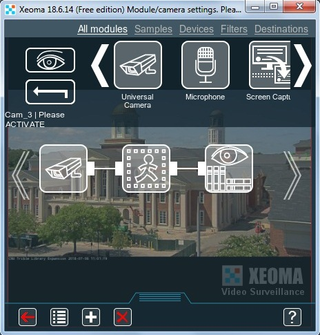 Xeoma Video Surveillance Software Screen shot